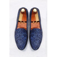 Royal fabric loafer shoes